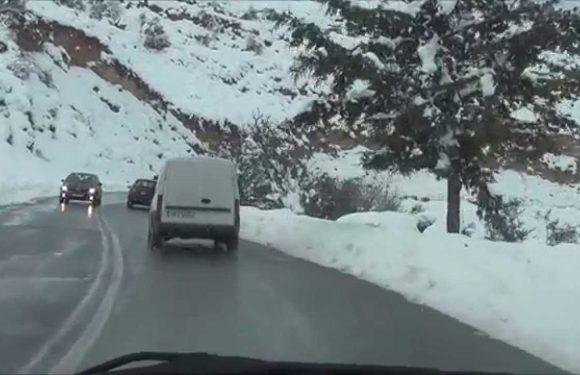 Απανωτές εκτροπές Ι.Χ. λόγω παγετού στον Δήμο Αγιάς