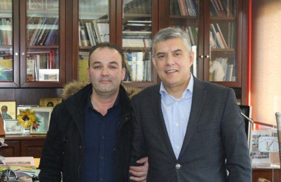 Με τον εκπρόσωπο του Συλλόγου Σαρακατσαναίων Ευξεινούπολης συναντήθηκε ο Κώστας Αγοραστός