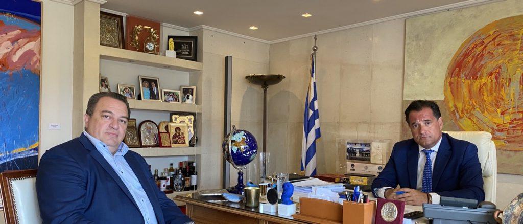 Ο Ε. Στυλιανίδης στον υπ. Ανάπτυξης Α. Γεωργιάδη για τη Shelman
