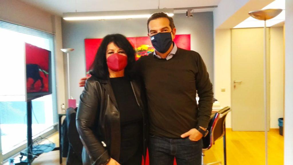 Συνάντηση της Άννας Βαγενά με τον Αλέξη Τσίπρα